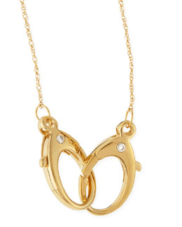 Jennifer Zeuner 14k Gold Vermeil Large-Double-Clasp Necklace
