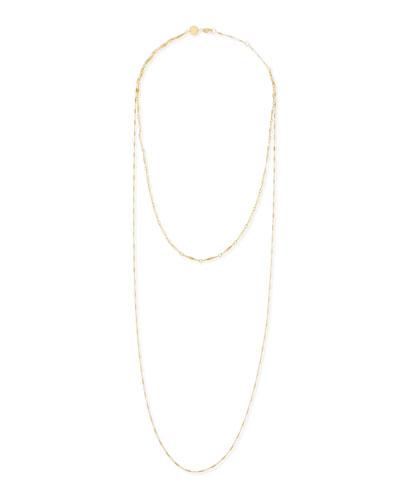 Jennifer Zeuner Double Layered Gold Vermeil Necklace