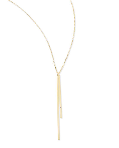 Jennifer Zeuner Double-Bar Pendant Necklace