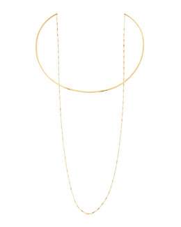 Jennifer Zeuner 14k Gold Vermeil Collar Necklace with Draped Chain