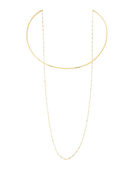 Jennifer Zeuner 14k Gold Vermeil Collar Necklace with