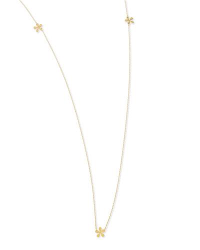 "Jennifer Zeuner Long Mini Flower Necklace, 37""L"