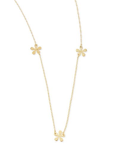 "Jennifer Zeuner Short Mini Flower Necklace, 23""L"