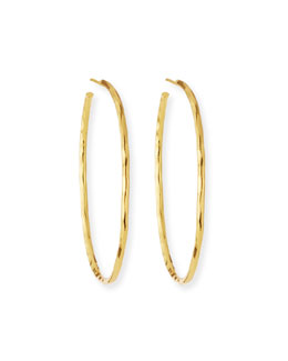 Nest Thin Hammered Gold-Plated Hoop Earrings