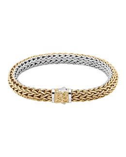John Hardy Classic Chain Medium Reversible Silver & Gold Bracelet