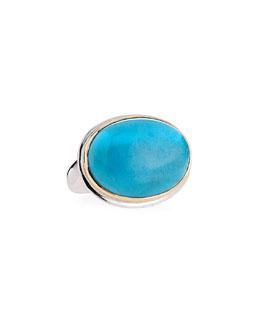 Dina Mackney Oval Turquoise Ring