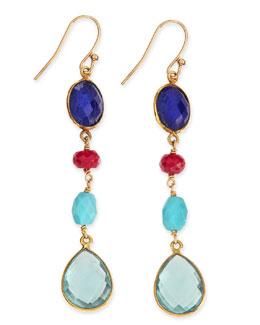 Dina Mackney Semiprecious Drop Earrings, Multicolor