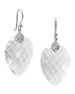 Elizabeth Showers Susanna White Quartz & Sapphire Drop Earrings