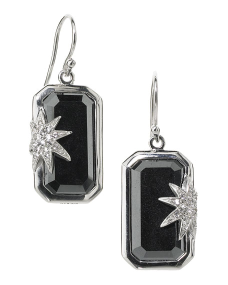 Hope Sapphire-Star Hematite Deco Earrings