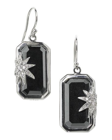 Hope Sapphire-Star Hematite Deco Earrings