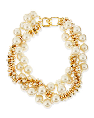 Kenneth Jay Lane Multi-Strand Simulated Pearl Necklace