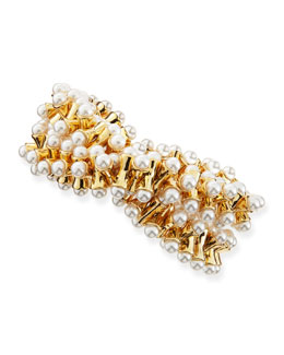 Kenneth Jay Lane Stretchy Pearl-Tip Bracelet