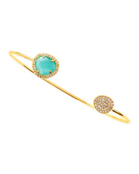 Mint-Facet Pinch Bracelet
