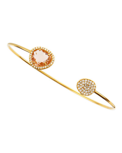 Peach-Facet Pinch Bracelet