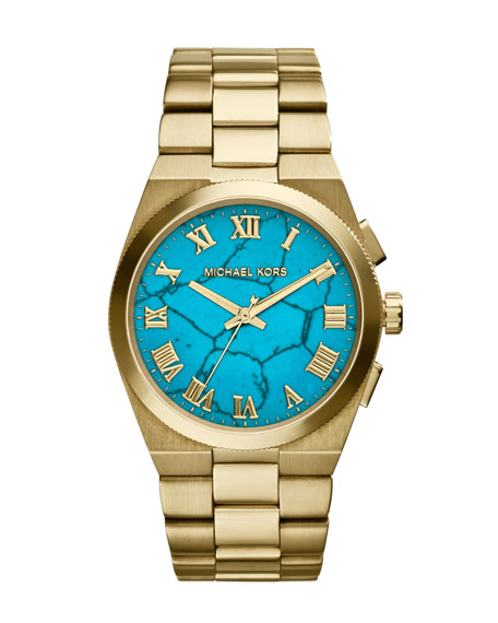 Mid-Size Channing  Golden Stainless Steel Three-Hand Watch