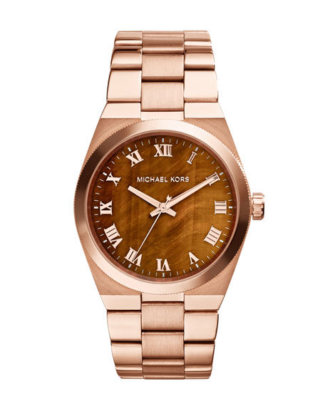 Mid-Size Channing Rose Golden Stainless Steel Three-Hand Watch