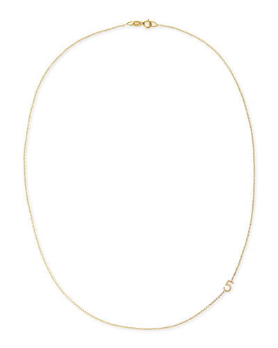 Mini Number Necklace  Yellow Gold