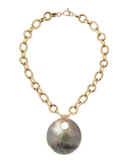 Devon Leigh Abalone Shell Pendant Necklace
