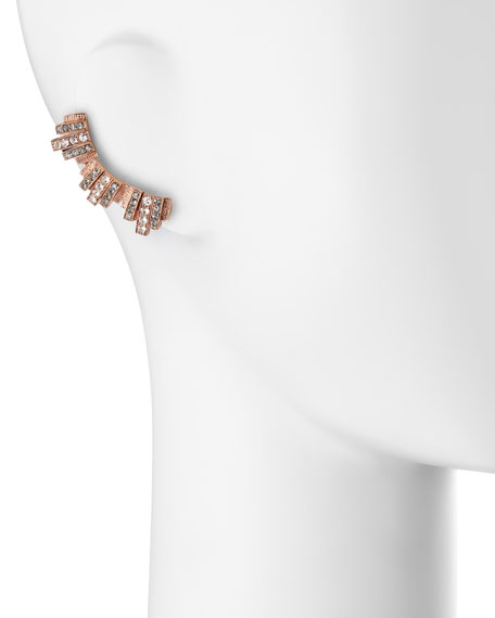 Lou Lou Lobo Earrings, Rose Gold Plate