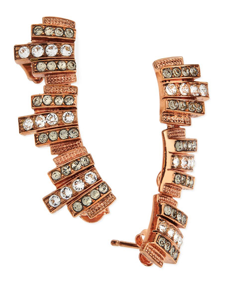 Ca&LouLou Lou Lobo Earrings, Rose Gold Plate