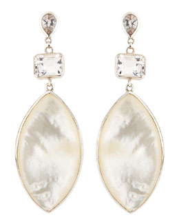 Stephen Dweck Rock Crystal & Mother-of-Pearl Marquise Drop Earrings