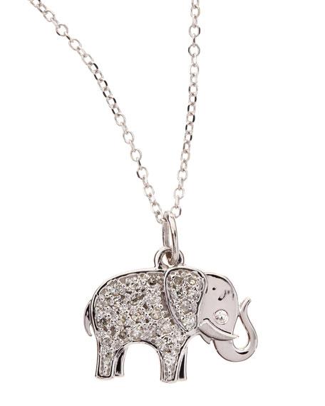 Kc designs 14k white gold diamond elephant pendant necklace aloadofball Choice Image