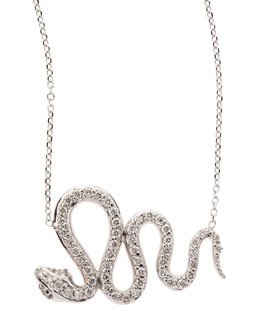 KC Designs 14k White Gold Diamond Snake Pendant Necklace