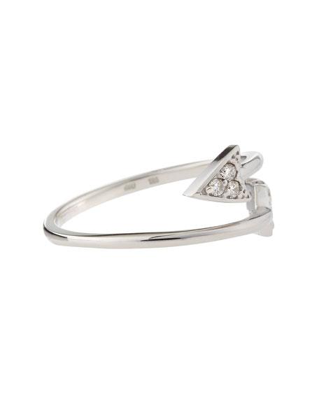 14k White Gold Diamond Arrow Ring