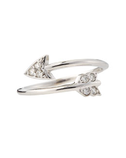 KC Designs 14k White Gold Diamond Arrow Ring