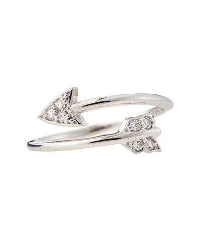 KC Designs 14k White Gold Diamond Arrow Ring