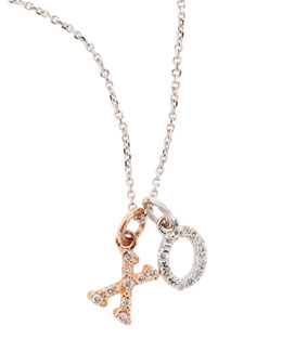 KC Designs 14k White & Rose Gold XO Necklace