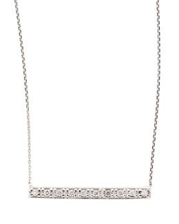 KC Designs 14k White Gold Diamond Bar Pendant Necklace