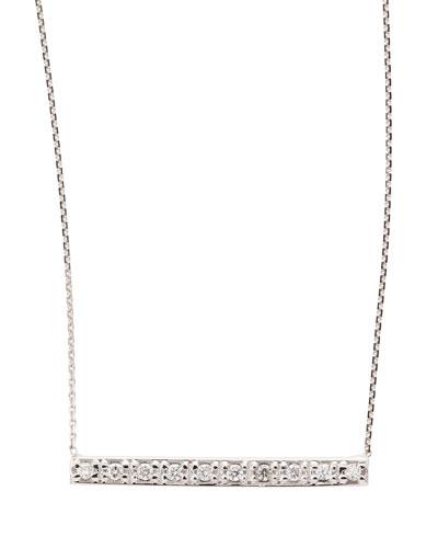 KC Designs 14k White Gold Diamond Bar Pendant Necklace