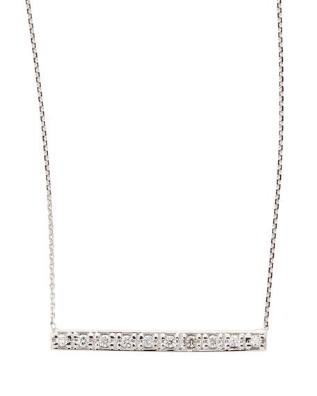 e85f6cd9092be KC Designs 14k White Gold Diamond Bar Pendant Necklace