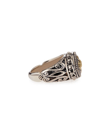 Sterling Silver and Yellow Gold Marquise Ring