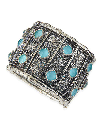 Konstantino Turquoise Doublet Cuff Bracelet