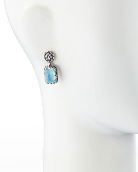 Turquoise Doublet Drop Earrings