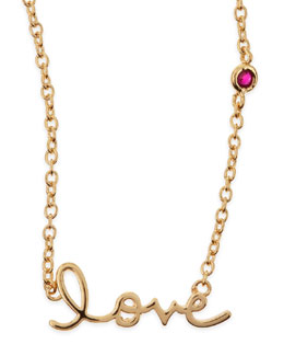 SHY by Sydney Evan Love Bezel-Ruby Pendant Necklace