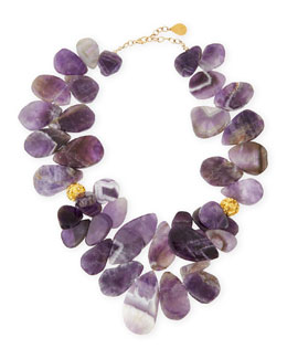 Devon Leigh Amethyst Teardrop Cluster Necklace