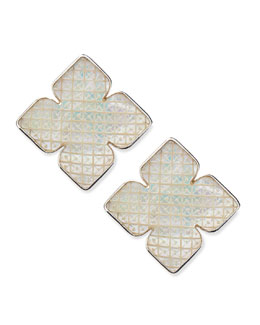 Stephen Dweck Mother-of-Pearl Clover Clip Earrings
