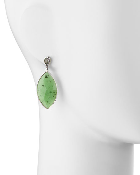 Jade Marquise Pear Earrings, Green