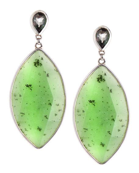 Jade Marquise Pear Earrings, Green