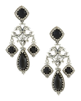 Konstantino Ornate Black Onyx Earrings