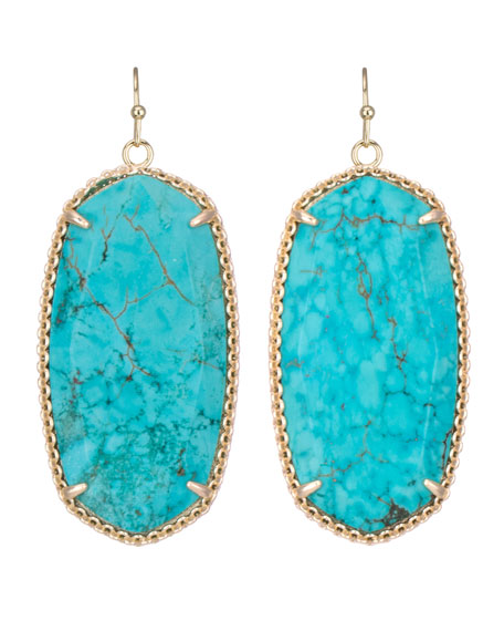 Deily Drop Earrings, Turquoise