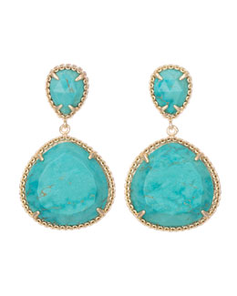 Kendra Scott Penny Post Earrings, Turquoise
