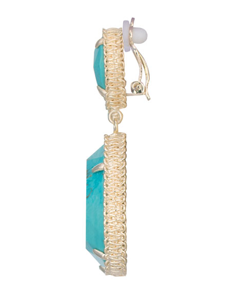 Penny Clip-On Earrings, Turquoise