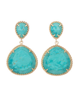 Kendra Scott Penny Clip-On Earrings, Turquoise