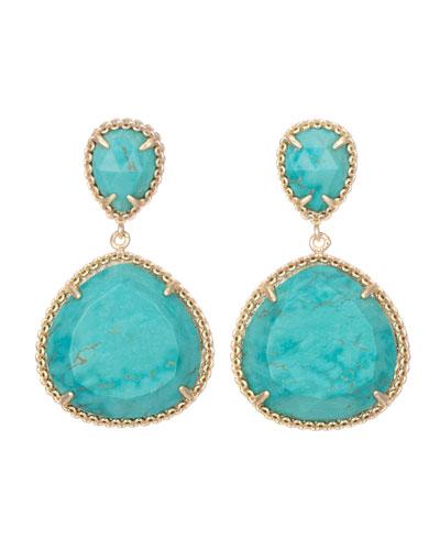 Kendra Scott Penny Clip-On Earrings, Turquoise
