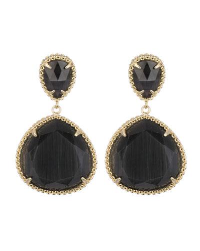 Kendra Scott Penny Clip-On Earrings, Black Cat's Eye