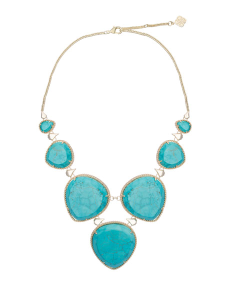 Rebecca Necklace, Turquoise